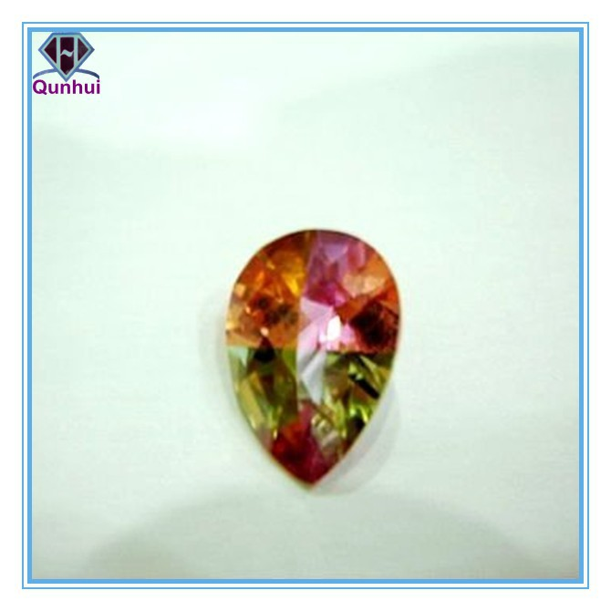 2016 Newest pear shaped colorful cubic zircon stone