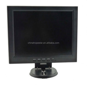 popular model 12 inch tft lcd monitor with vga connector with HD cable