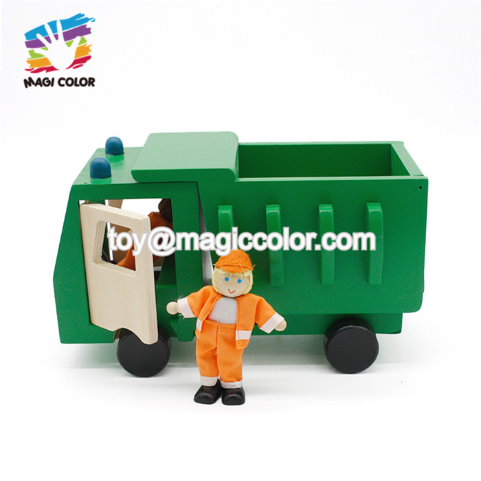 New arrival educational wooden toy tractor trailer for kids W04A413