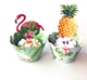 24 pcs/lot Hot sale Flamingo pineapple Cupcake Wrappers Topper Hawaii Beach Party Birthday Party Wedding Cake Decoration Supply