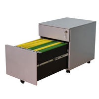 2018 popular small mobile desk drawers cabinet