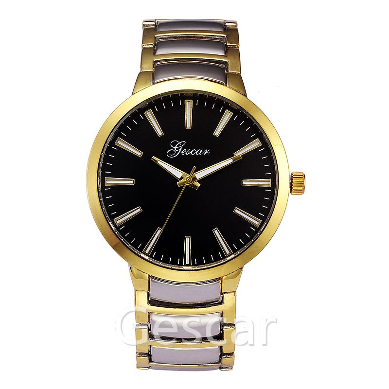 wrist watch 7157 simple style gescar brand alloy quartz watch mens fashion watch with gescar logo watches