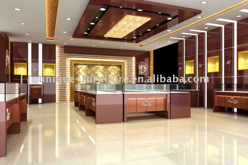 Design Interiors Furniture Showrooms ~ Jewellery showroom interior design ideas diepedia