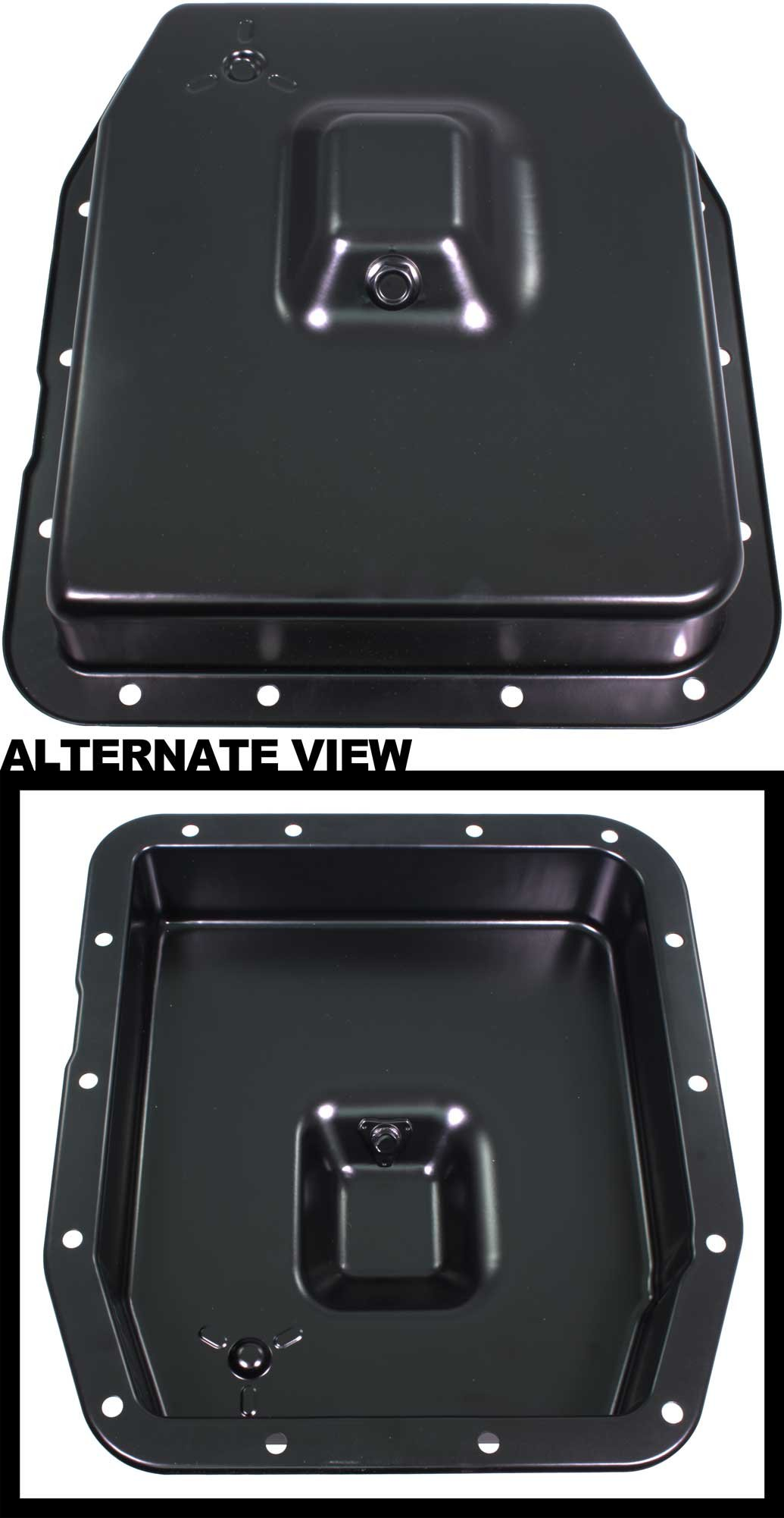 APDTY 103956 Automatic Transmission Oil Pan Fits Select 1992-2014 Ford Lincoln Mercury Vehicles with 4r70W or 4R75W Transmission Black Powder Coated; Replaces 6L3Z-7A194-A, 6L3Z7A194A