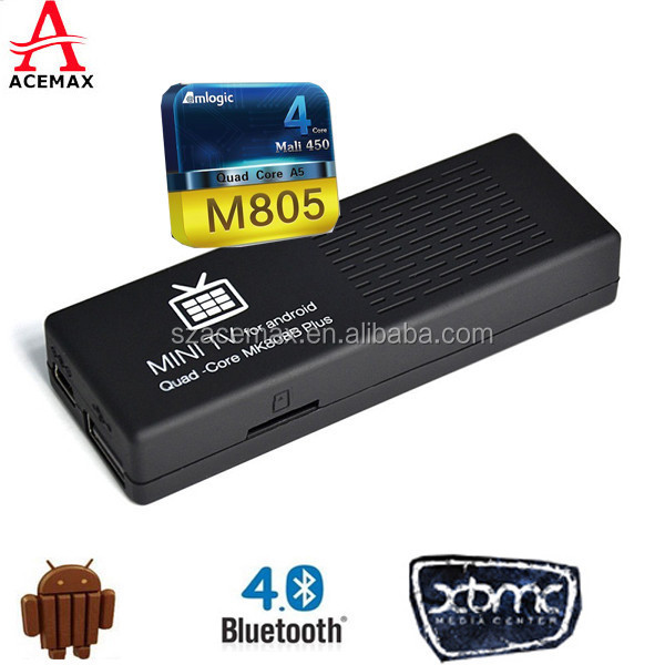 Amlogic M805 Quad Core Internet Android Wifi <strong>Dongle</strong> <strong>Tv</strong> Box Hd M808B Plus usb internet <strong>tv</strong> <strong>stick</strong>