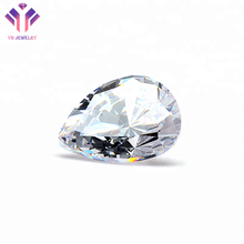 Factory Price CZ Gems White Pear Cut Cubic Zirconia for Jewelry Making