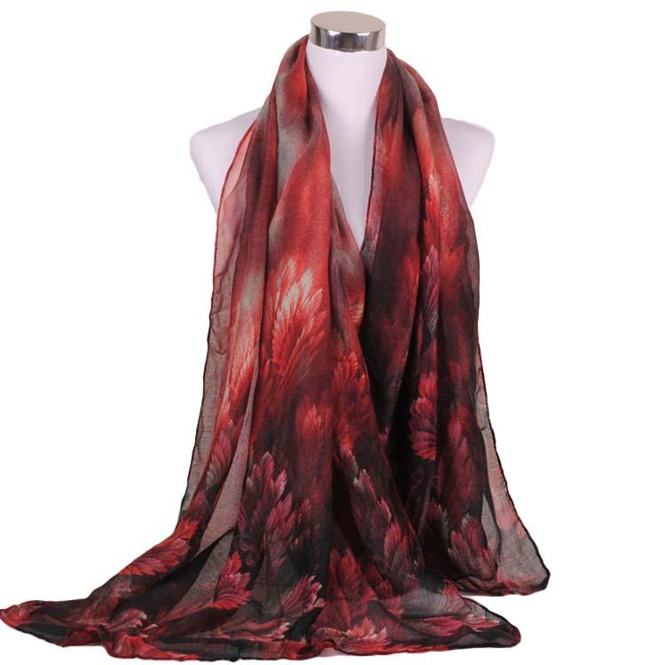 Nieuwe collectie fashion coral bloemen vrouwen 180cm * 90cm Viscose sjaal groothandel vrouwen sjaals