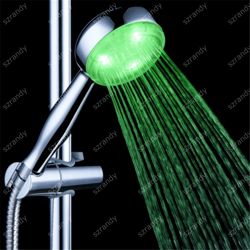 LD8008-A18 led shower head rainfall bulk promotional gift for kids without battery in single green color type