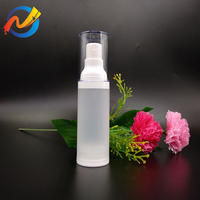 China Supplier Free Sample Skin Care Packaging Frosted White Cosmetic Plastic 15ml 30ml 50ml Airless Pump Bottle