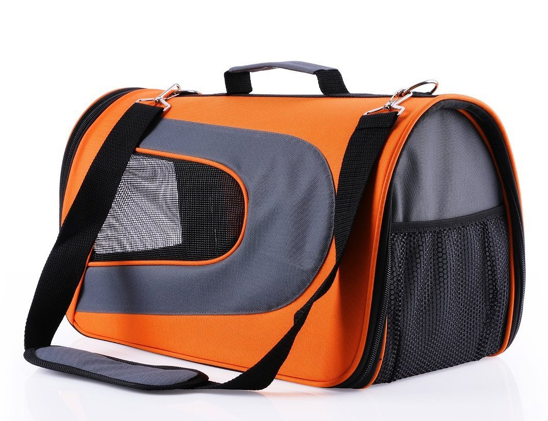 Bonve Pet Dog Carrier Soft Sided Pet Travel Carriers Portable Bags for Dogs, Cats and Small Pets, Airline-Approved