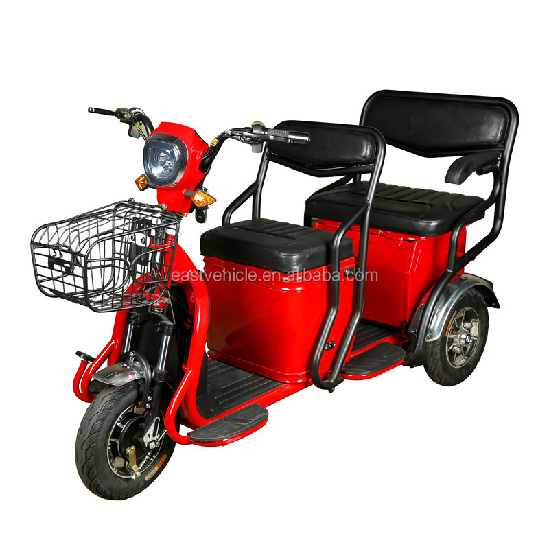 Two Seat Adult Tricycle/mobility Electric Scooter/electric Trike Scooter -  Buy Electric Scooter With Seat For Adults,2 Seat Mobility Scooter,Electric  Double ...