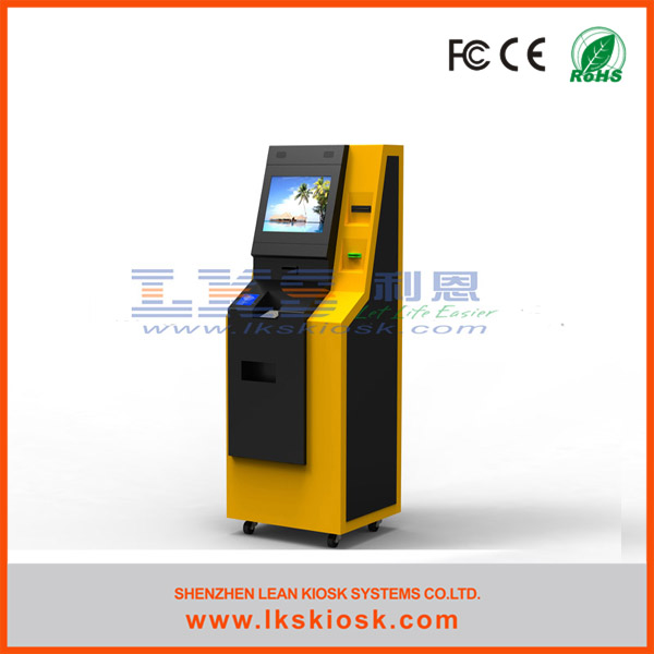 LKS newest bank atm kiosk with cash dispenser