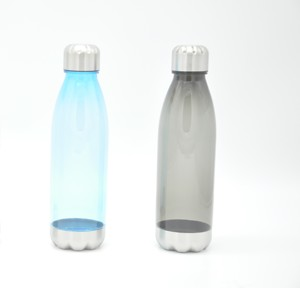 750ml Plastic Transparent Clear Fashion Sport Cola Shape Coke Drink Water Bottle
