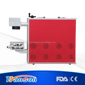 20w Portable Galvo stainless steel fiber marking machine with CE FDA