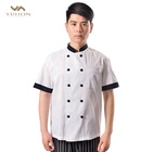 Polyester Cotton fabric kitchen chef coat hotel uniform,chef uniform hotel staff