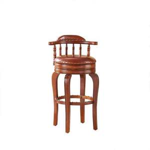 Whosale American style furniture low back wood bar chair