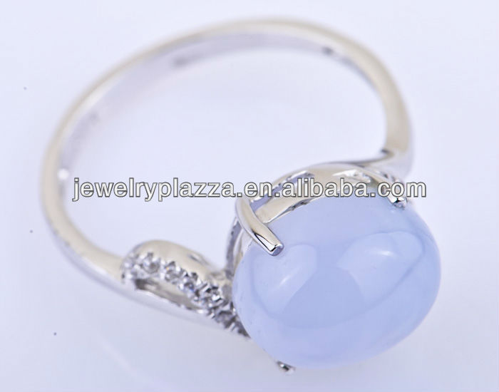 Chalcedony Ring, Chalcedony Gemstone Jewelry, Chalcedony 925 Ring A422