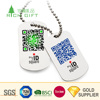 Made in china cheap custom blank metal silver plated id pet tag sublimation printing qr code dog tags