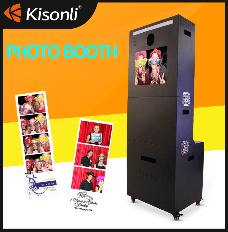 Customized photo booth magic mirror with high quality photo printer and camera