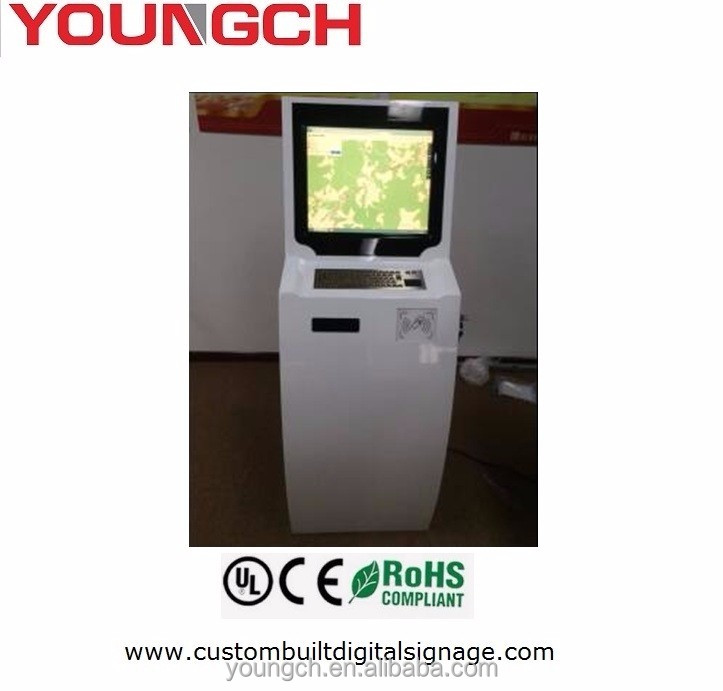 Query point with metal keyboard touch mouse small lcd 22 in vending machine touch screen floor standing active touch infrared fr