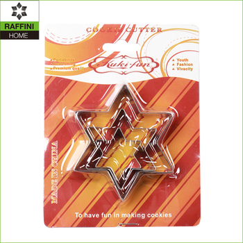 Hexagonal star 3pc stainless steel cookie mould set