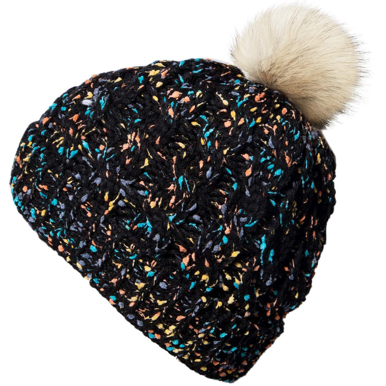 2270be27654af Amandir Kids Confetti Winter Fleece Lined Hats Toddler Warm Beanie Pom Pom  Cap