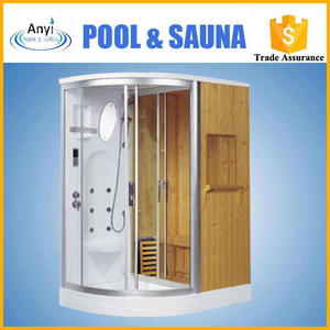 whirlpool massage SHOWER DRY AND steam shower room with silding door