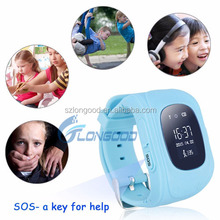 2016 New Children Double GPS located Smart watch Q50 Emergency Two Way Communication Anti-lost sos for kids
