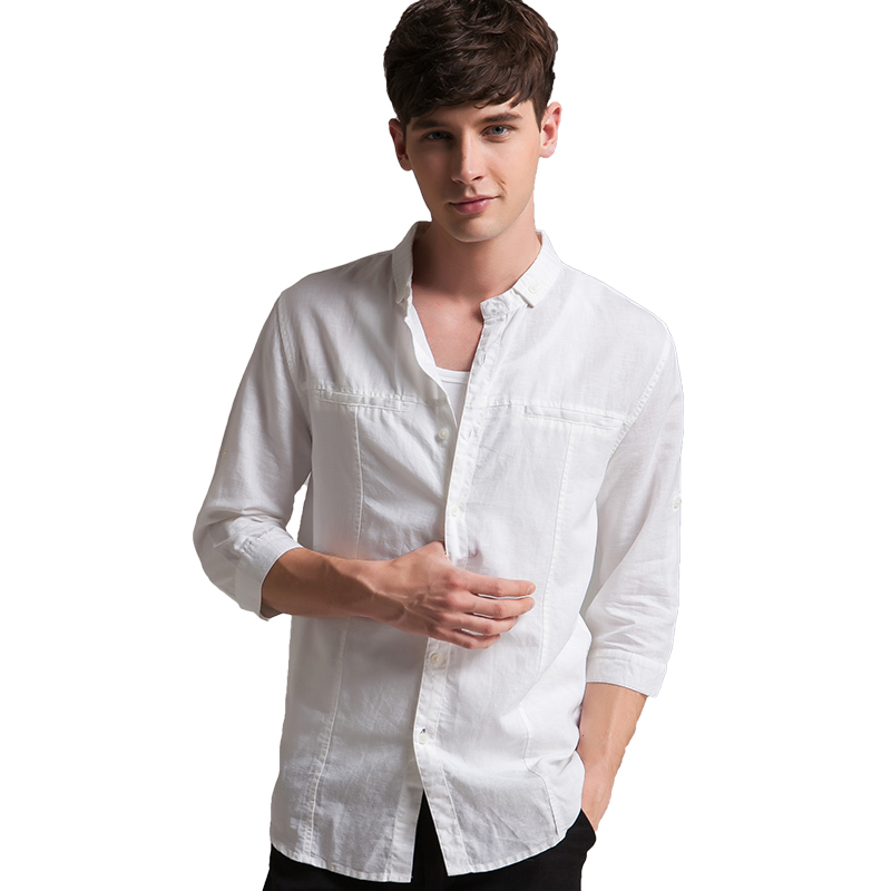 Top Cheap White Linen Shirt Men, find White Linen Shirt Men deals on  BZ36