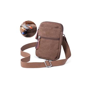 1sl0090 Outdoor Sport Mobile Phone Shoulder Bags Canvas Cell Sling Bag For Men