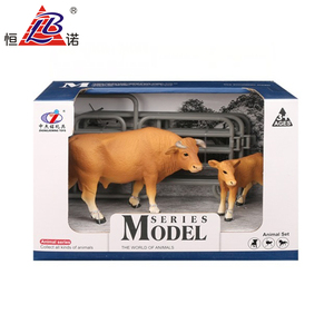 PVC Farm Set Bull Toy For Children Soft Plastic Toy Bulls With HR4040