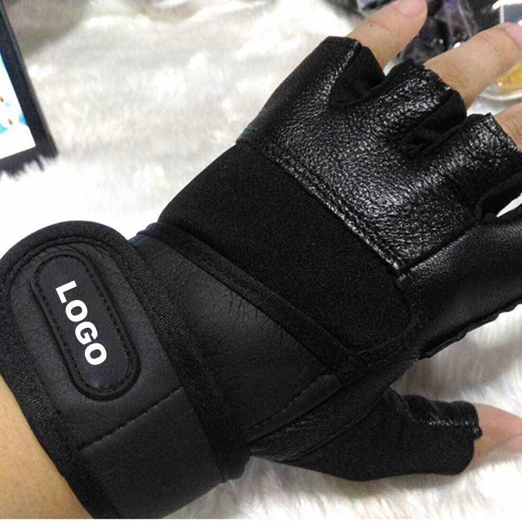 Free Sample Service Sheepskin Cross Training Gloves With Wrist Support