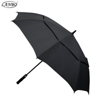 Chinese fashional outdoor uv resistant air vent double layer golf umbrella