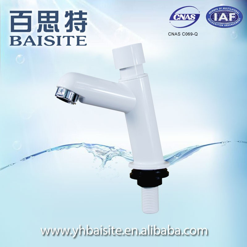 Public Toilet Time Delay Faucet For Indian Market,Plastic Basin Water Tap