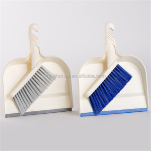 custom new decorative folding strong table cleaning brush broom dustpan set