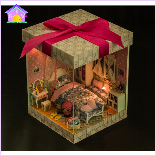 Wholesale Diy Mini Wooden Doll House With Light And Furniture For Christmas Gift View Wooden