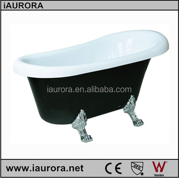 Luxury Black Color Fiberglass Claw Foot Tub With Cheap Prices; Black ...