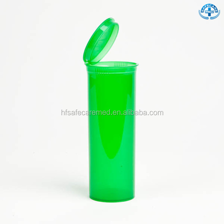 Snap Cap Plastic Pharmaceutical Vials Pop Top Weed Container