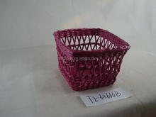 cheap wholesale handmade woven wire basket