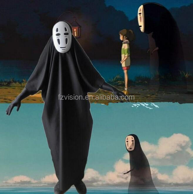 Home Romantic Miyazaki Hayao Anime Spirited Away No Face Man Cartoon Printed Cosplay Accessories High Quality Umbrella Sunshade Xmas Gift