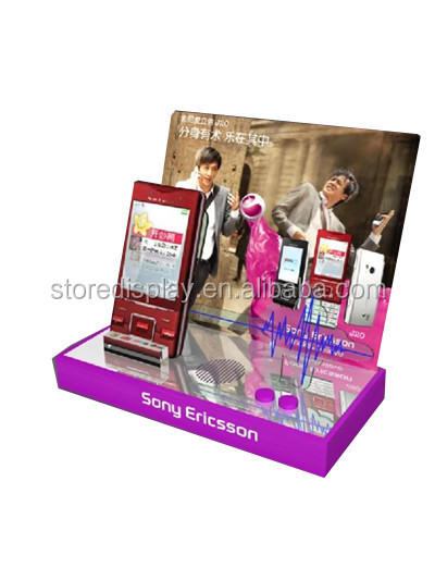 Best design acrylic mobile phone display stand for brand advertising