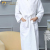 Wholesale Custom Logo Full length White Hotel Cotton Waffle Bathrobe