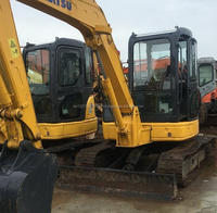 Used Mini Komatsu PC55 excavator small digger, komatsu pc55MR excavator cheap to sale