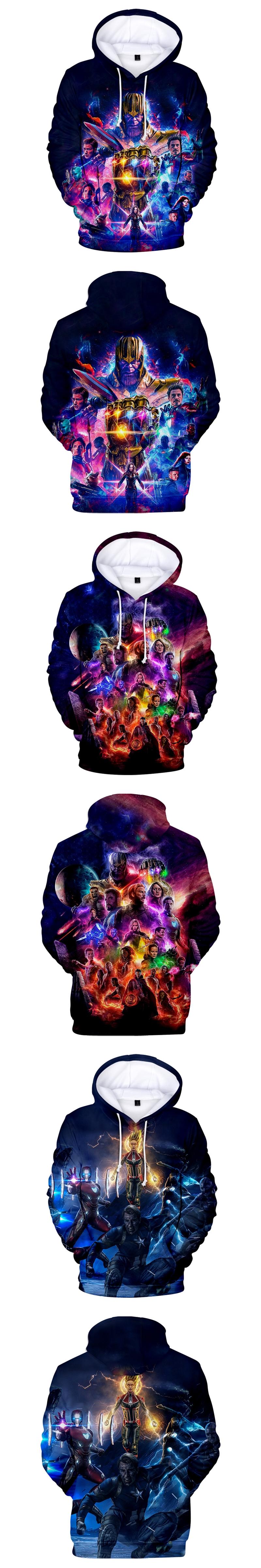 Espero su respuesta ประหลาดใจกับเสื้อสเว็ตใหม่หนังเวนเจอร์ส endgame ซิป hoodies