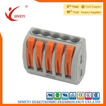 Wago 222-415 Wiring Connector 5 Pin Conductor Spring Terminal ...