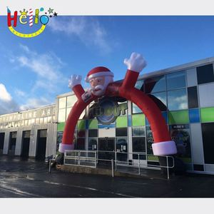 Hot sale christmas decoration use inflatable santa arch
