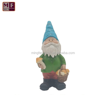 Fancy Gnome With Mushroom Bobble Head Indoor Ornament Or Garden Statue  Decoration