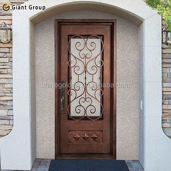 Alta Calidad Arco Frente Entrada Principal De Hierro Doble Puerta De ...