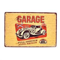 Garage Full Service Auto Repair cheap 3D Embossed vintage metal tin sign wall hanging sign