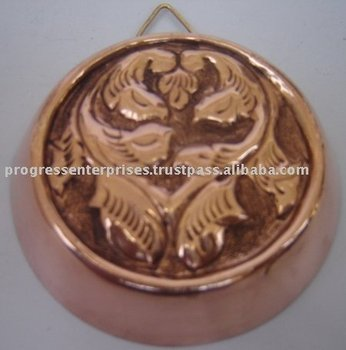 Copper Cake Moulds Collander & Cauldrin